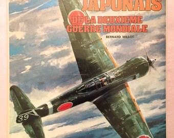 Les Chasseurs Japonais De La Deuxieme Guerre Mondiale, Collection Docavia Volume 7 - Bernard Millot (1977 Hardcover w/DJ) World War II Plane