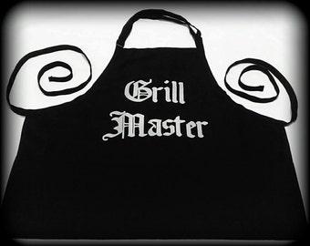 Grill Master Apron, BBQ apron, Kitchen apron, Grill