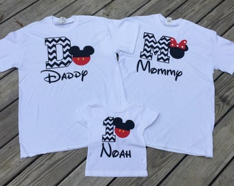 Mickey Mouse Birthday Shirts Set