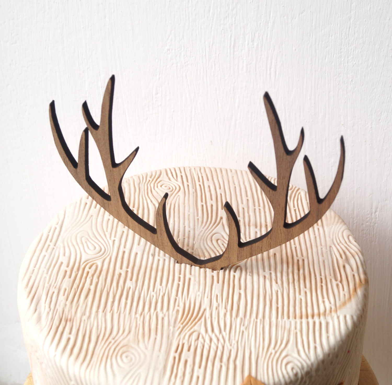 Deer antlers cake topper wedding cake topper antlers topper