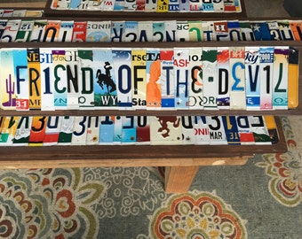 Friend of the Devil license plate sign