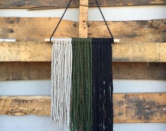 small yarn wall hanging