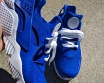 Custom Nike Royal Blue Huarache