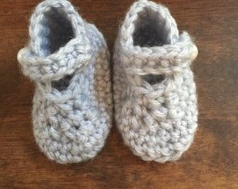 Pale Blue Booties