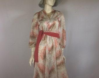 70's Vintage Dress Extra Large