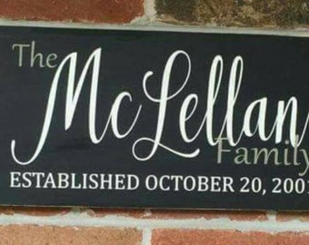 Custom Family Wood Sign | Wood Sign | Family Name Sign | Establishment Sign | Welcome Sign | Wedding Gift | Rustic Wood Sign