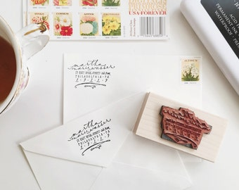 Custom Calligraphy Return Address/Logo Stamp