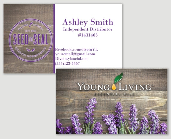 Items similar to Lavender Young Living business card