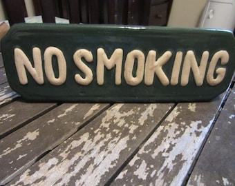 Ceramic No Smoking Sign
