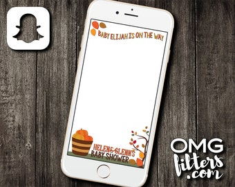 Autumn Leaves Geofilter - Custom Snapchat Geofilter - Birthday / Baby Shower - Any Event!