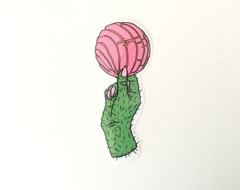 Pink Concha Sticker // Conchas are Life // Pan Dulce & Nopal Hand