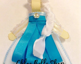 Ice Princess Ribbon Sculpture Clippie