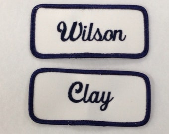 Name Patches Embroidery Included Great for All  Heat Sealed Backing Nametags Emblems 3.5 x 1.5 Logos & more