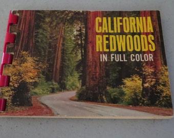 Vintage California Redwoods Mini Book in Full Cover