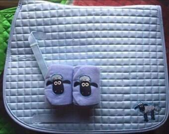 Shaun the sheep saddle cloth and pair of bandages