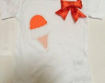 Onesie, Orange ice cream and bow tie