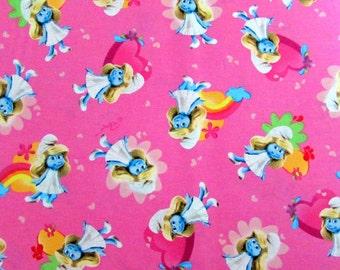 Smurfette Pink Fabric