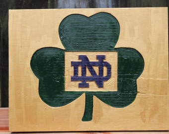 Notre Dame Shamrock Cutout