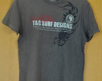Vintage Town & Country T shirt skate shirt surfer hawaii island Surfing Ocean Island Medium Size
