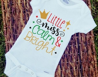 Little miss calm and bright baby onesie