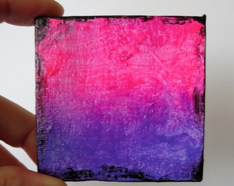 Mini Abstract / Ombre Painting By Leah