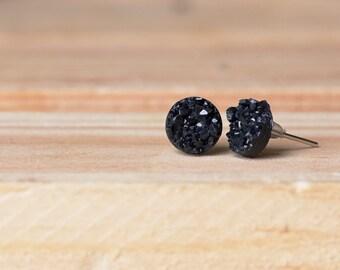 8mm Faux Druzy Earrings- JENNY