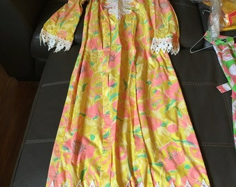 Vintage Lilly Pulitzer Women's Maxi dress