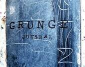 Grunge handmade art journal, journaling, mixed media, travel journal, create