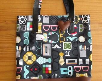 Cool print tote bag
