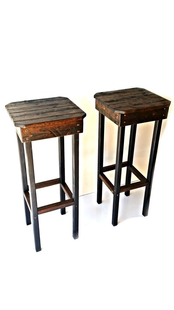 Rustic bar stools vintage farmhouse
