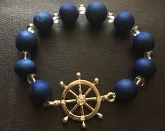 Druzzy Wheel Stretch Bracelet