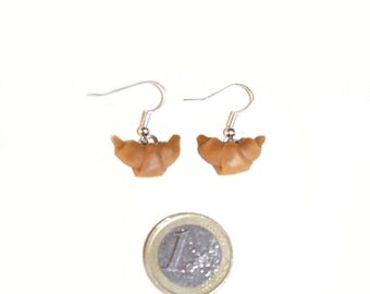 Croissant earrings in polymer clay