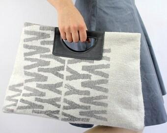 Handbag Goldy- wool silk felted