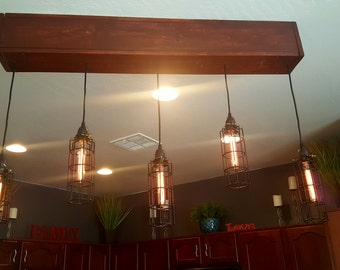 Contemporary/Industrial Customized Light Fixture,  Lights Adjust to any length you prefer