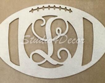 Monogram Football Door Hanger