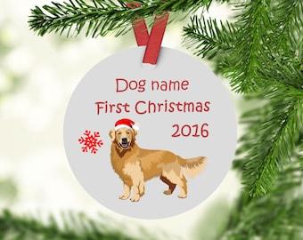 Golden Retriever Ornament - Custom Golden Retriever Ornament - Golden Retrievers First Christmas Ornament - Golden Retriever