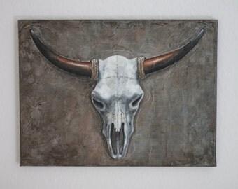 "Acrylic painting ""Skull"""