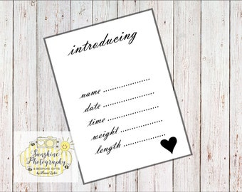 New Baby Announcement Cards A6
