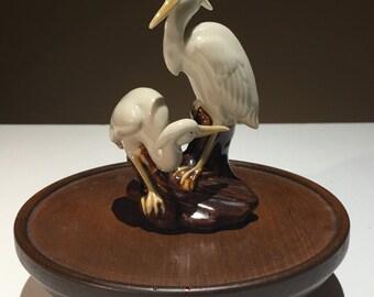 Figurine of two herons
