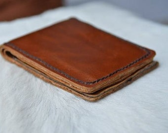 Leather Wallet - Men Wallet - Brown Leather