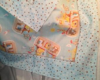 Noahs Ark Receiving Blanket