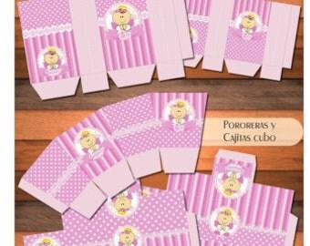 Custom printable Kit baptism baby Angels Candy