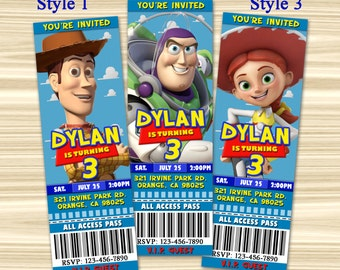 Toy Story Ticket Invitation. Toy Story Invitation. Diy Toy Story Birthday Party. Toy Story Party Favors. Digital File.