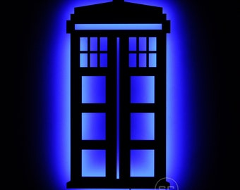 Lighted TARDIS Sign - LED Dr. Who Telephone Booth and Time Machine as Wall Art and Decor