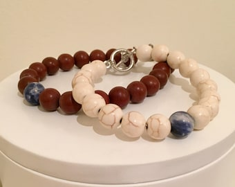 Men's Beaded Bracelet : Solid with 1 Accent Bead
