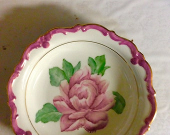 Pink peony flower candy dish