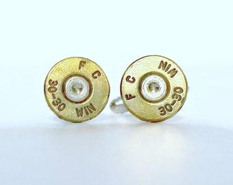 Bullet Jewelry- 30-30 Rifle Bullet Brass Cuff Links