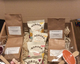 The Ultimate Coffee Sample Pack with Biscuits and Hot Chocolate Stirrer