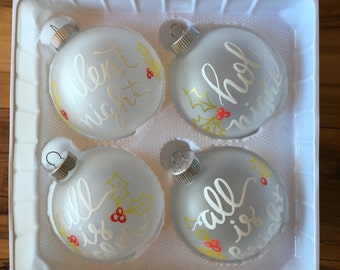 Silent Night glass ornaments
