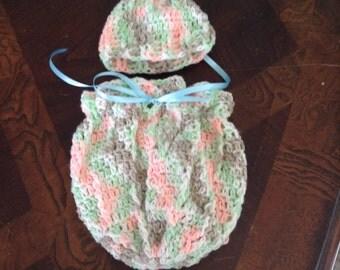 Preemie Cocoon and Hat Set